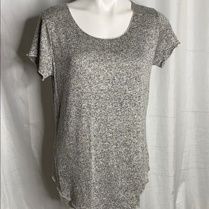 Free Kisses Grey Black Fleck T Shirt Size M